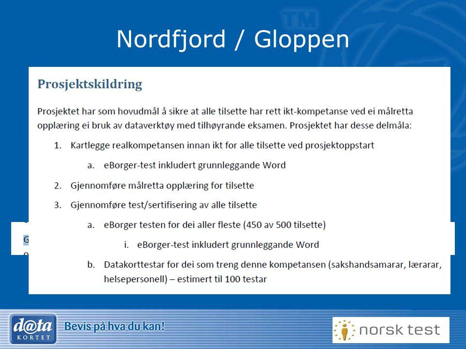Nordfjord / Gloppen Modell fra Voss