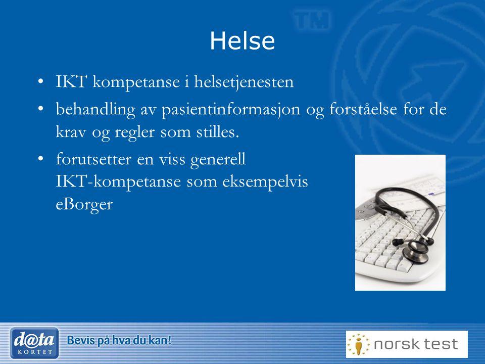 Helse IKT kompetanse i helsetjenesten
