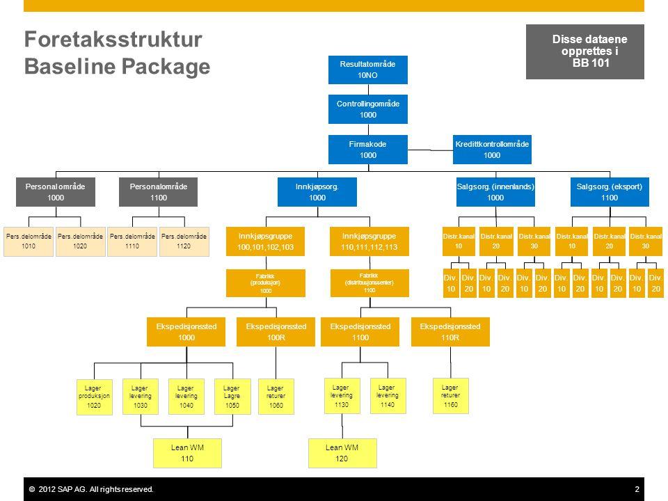 Foretaksstruktur Baseline Package