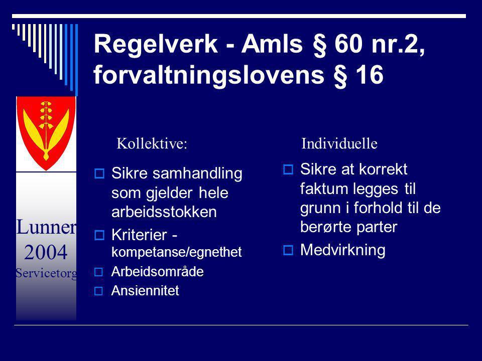 Regelverk - Amls § 60 nr.2, forvaltningslovens § 16