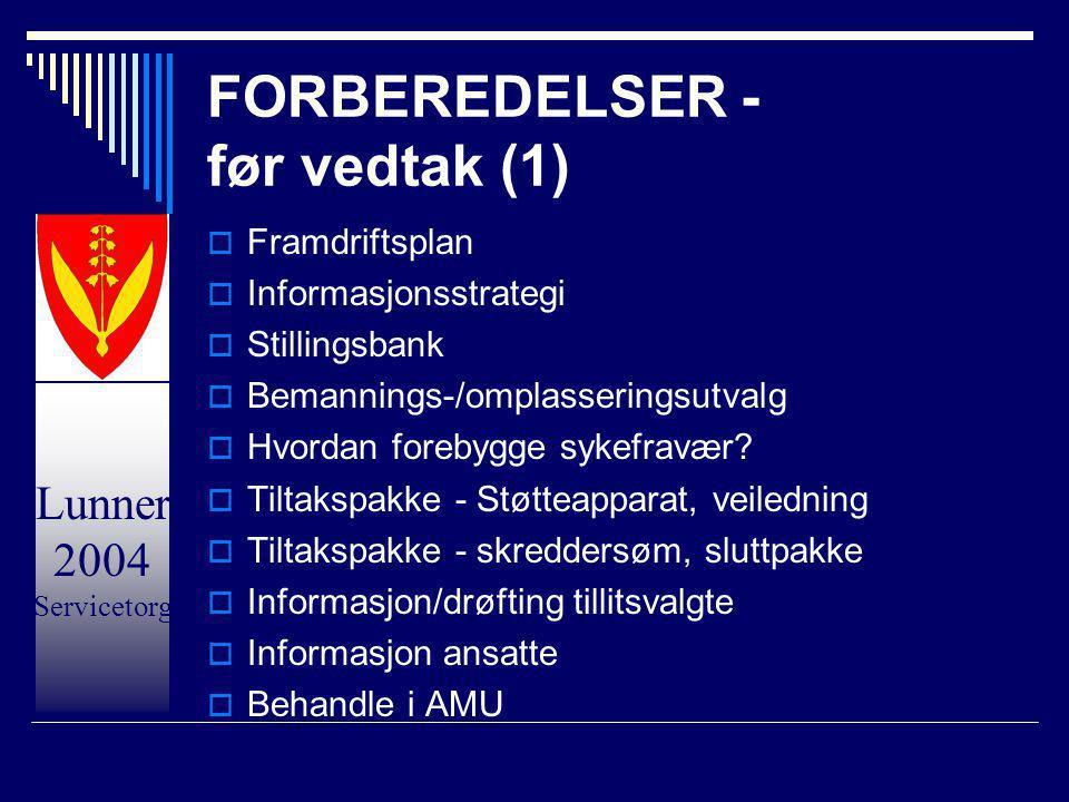 FORBEREDELSER - før vedtak (1)