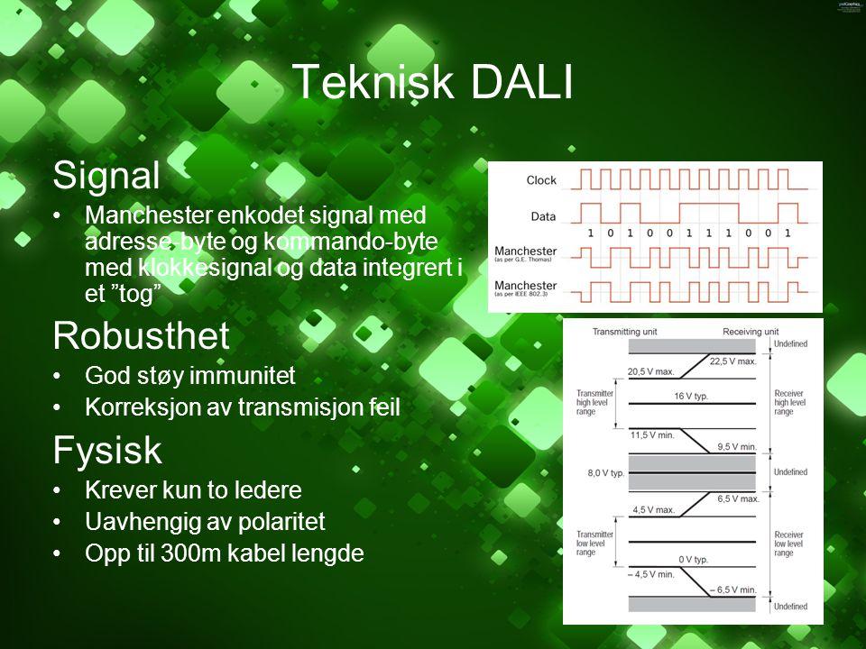 Teknisk DALI Signal Robusthet Fysisk
