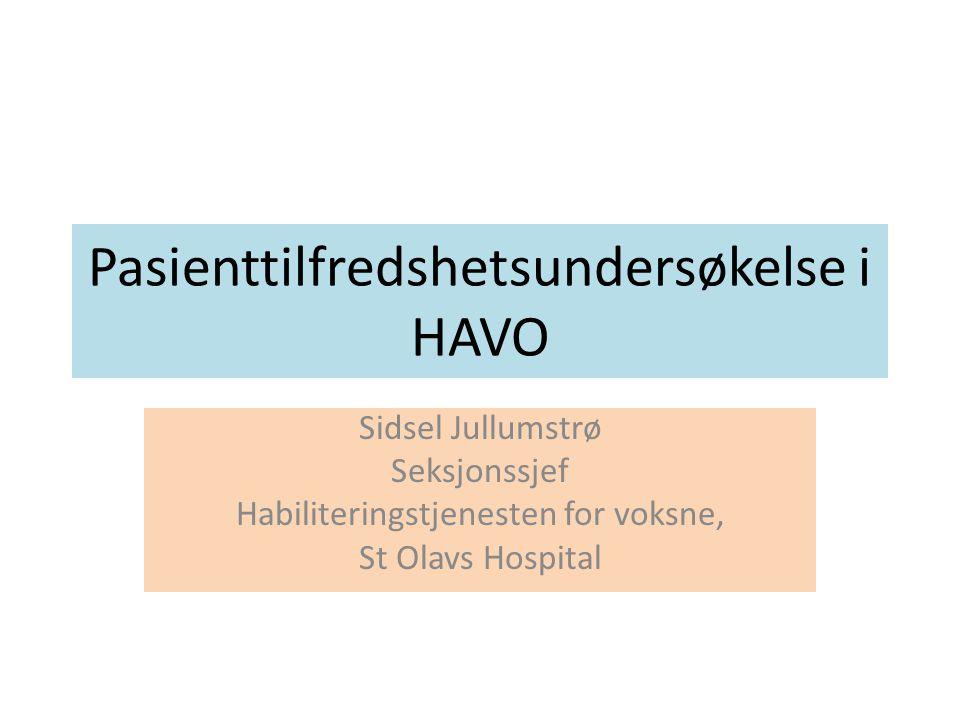 Pasienttilfredshetsundersøkelse i HAVO