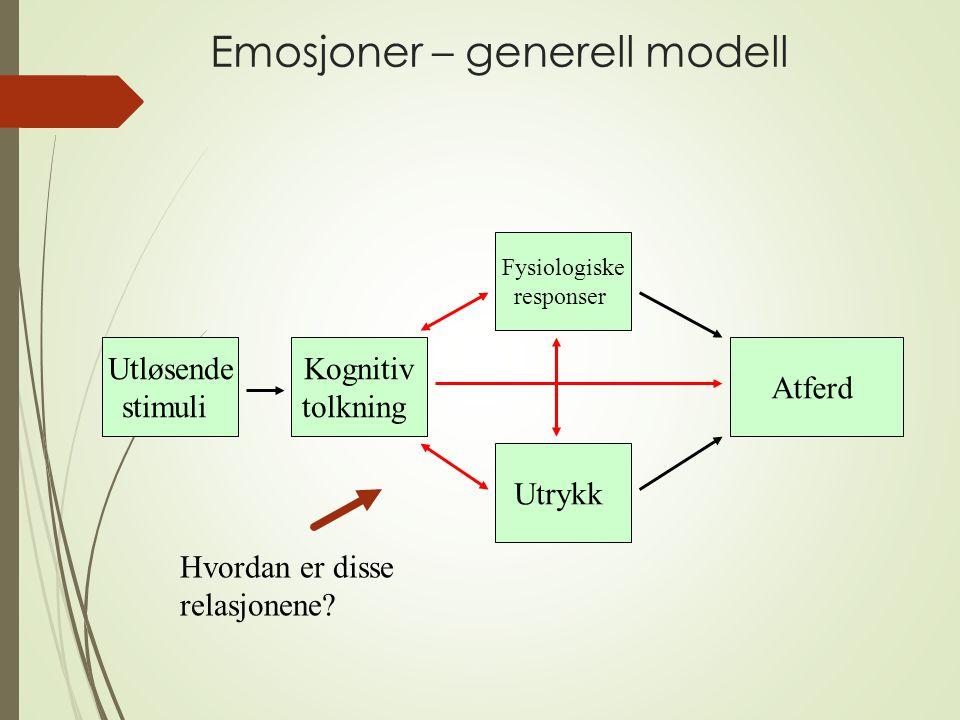 Emosjoner – generell modell