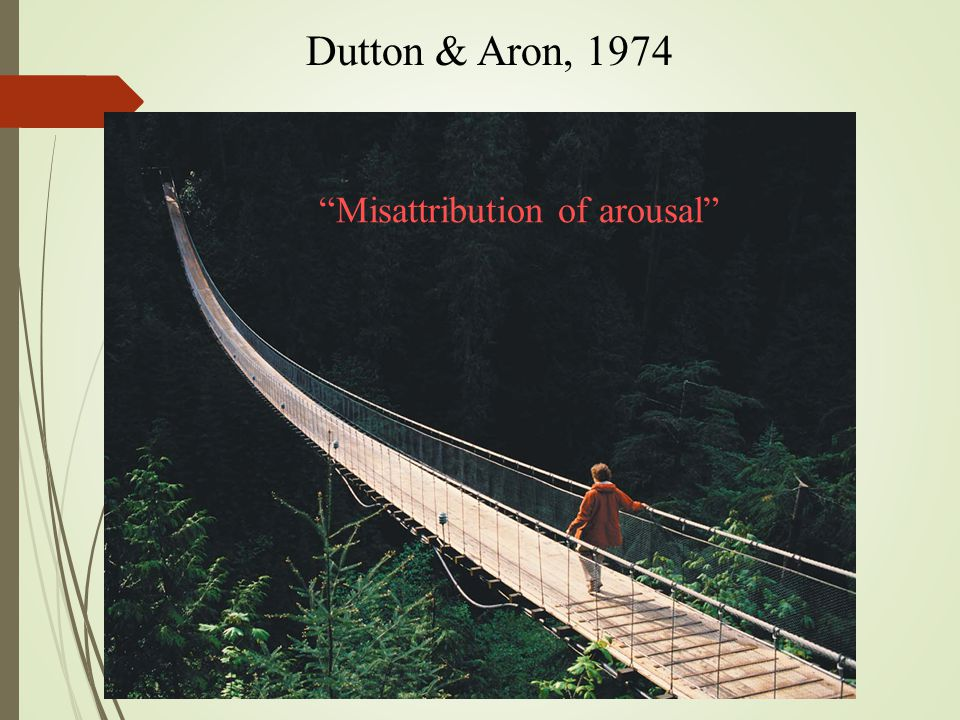 Dutton & Aron, 1974 Misattribution of arousal