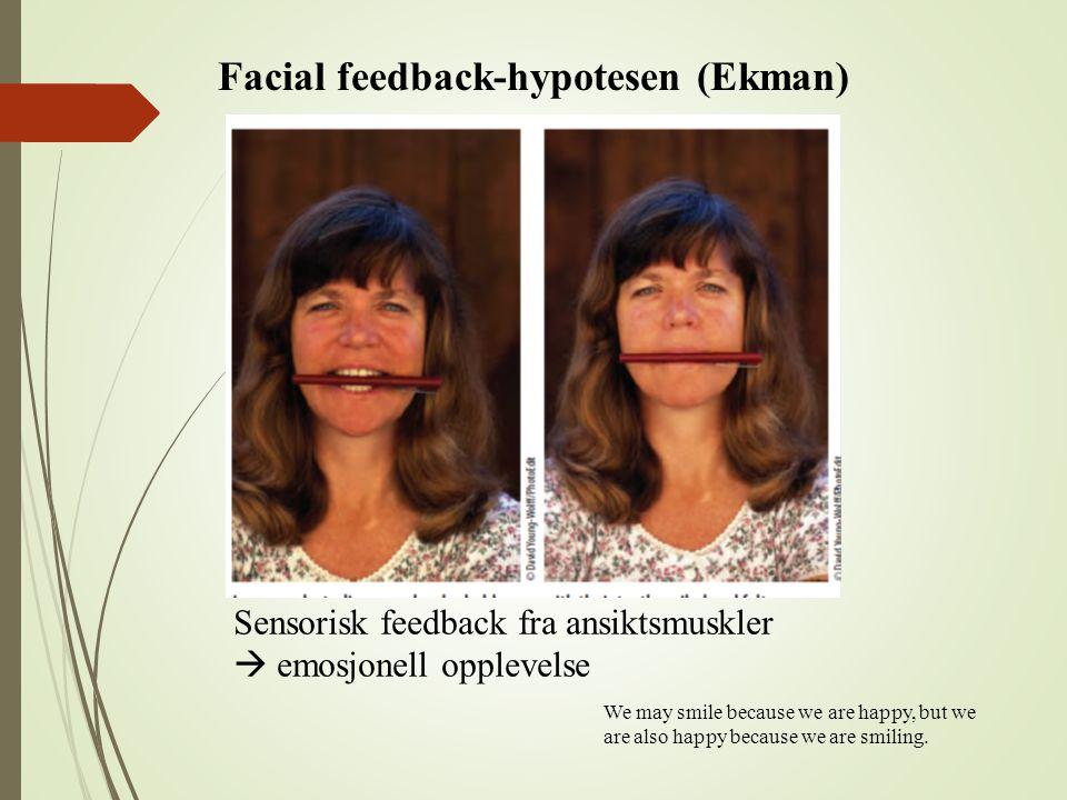 Facial feedback-hypotesen (Ekman)