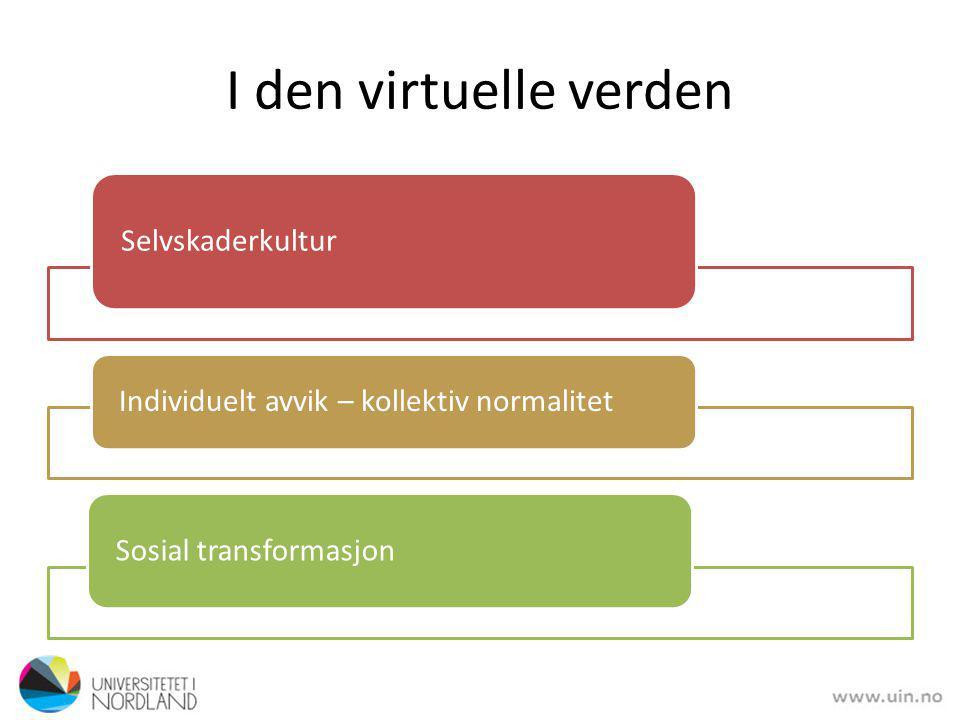 I den virtuelle verden Selvskaderkultur