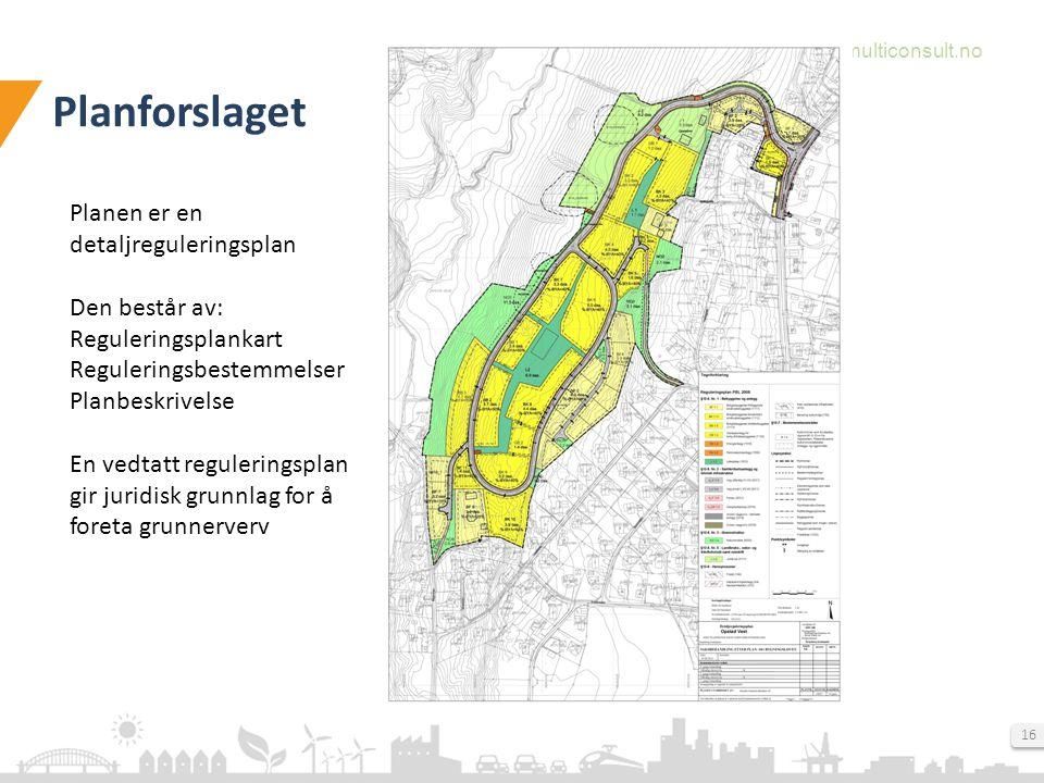 Planforslaget Planen er en detaljreguleringsplan