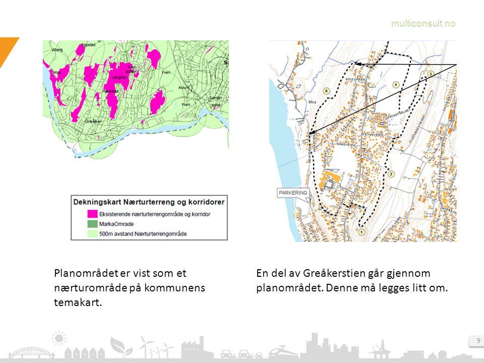 Planområdet er vist som et nærturområde på kommunens temakart.