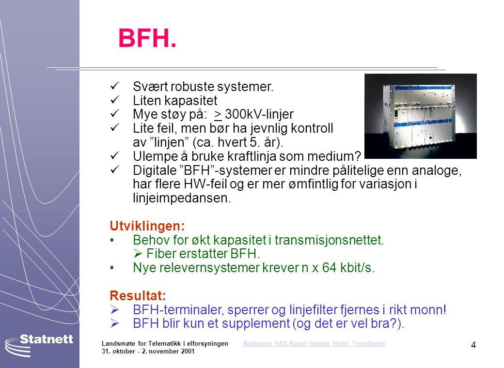 BFH. Svært robuste systemer. Liten kapasitet