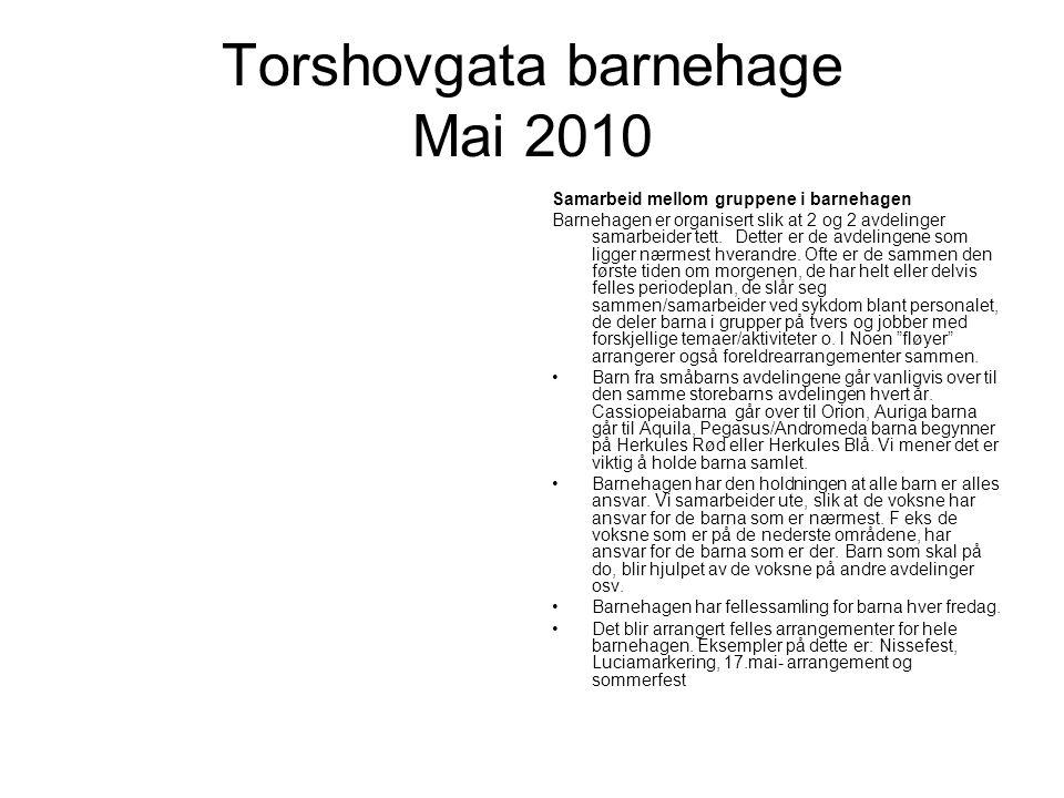 Torshovgata barnehage Mai 2010