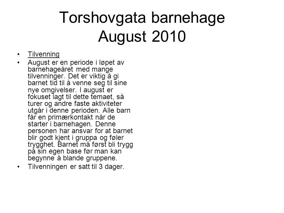 Torshovgata barnehage August 2010