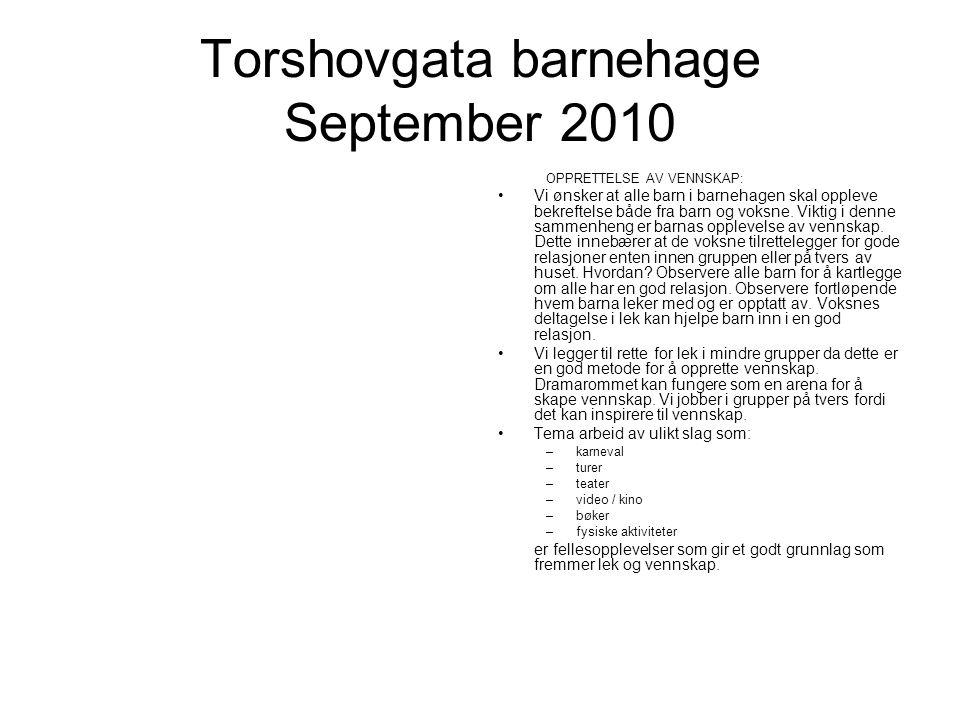 Torshovgata barnehage September 2010