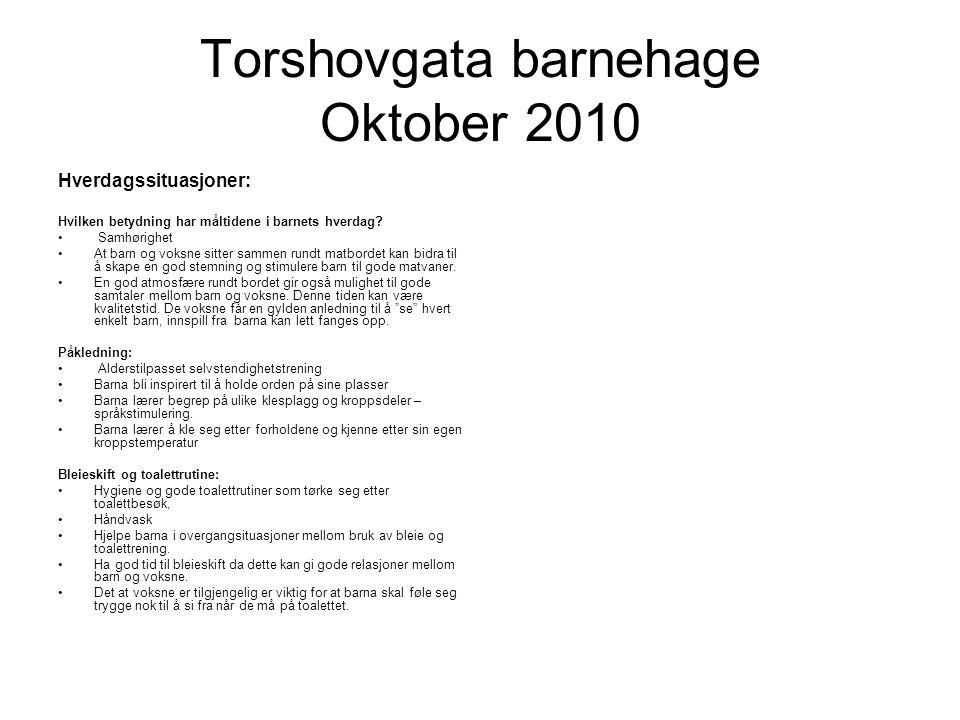 Torshovgata barnehage Oktober 2010