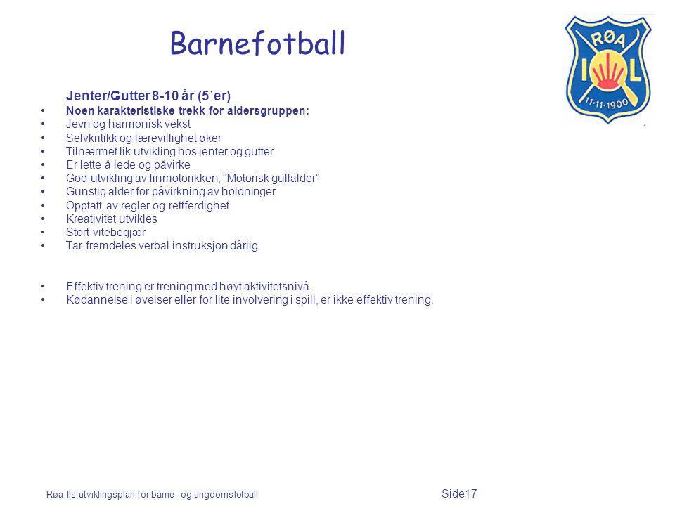 Barnefotball Jenter/Gutter 8-10 år (5`er)