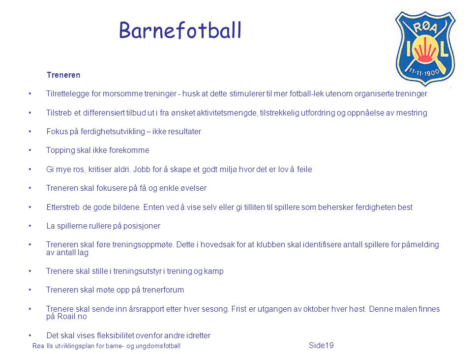 Barnefotball Treneren