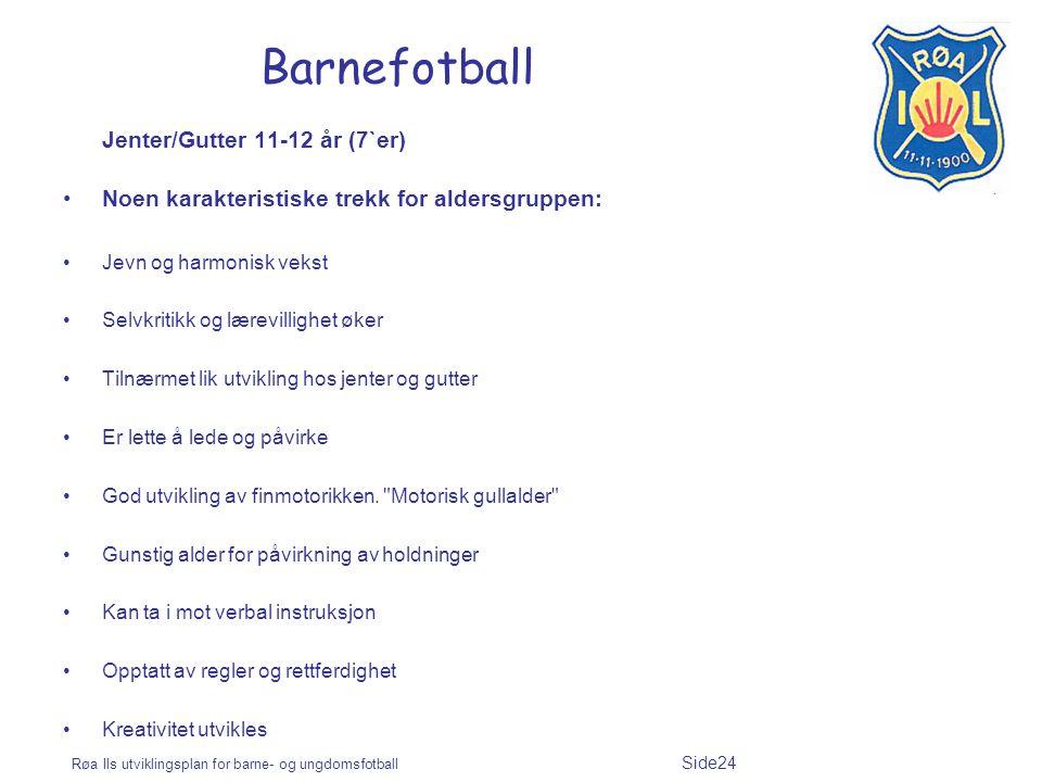 Barnefotball Jenter/Gutter 11-12 år (7`er)