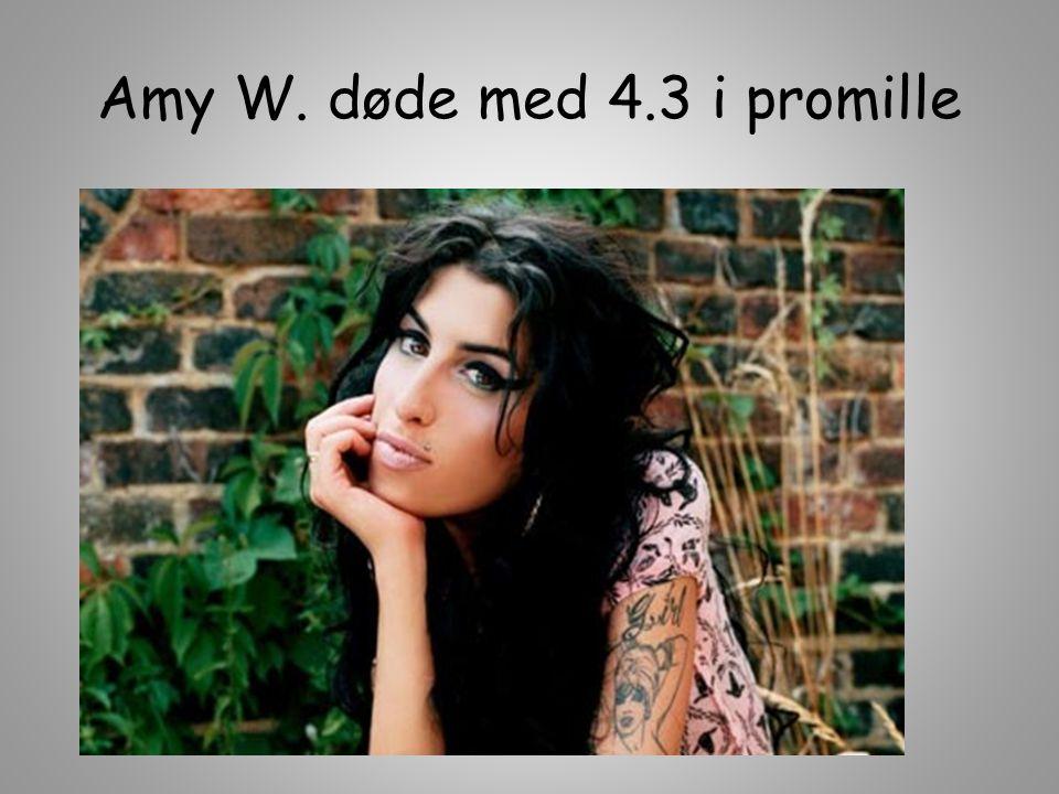 Amy W. døde med 4.3 i promille