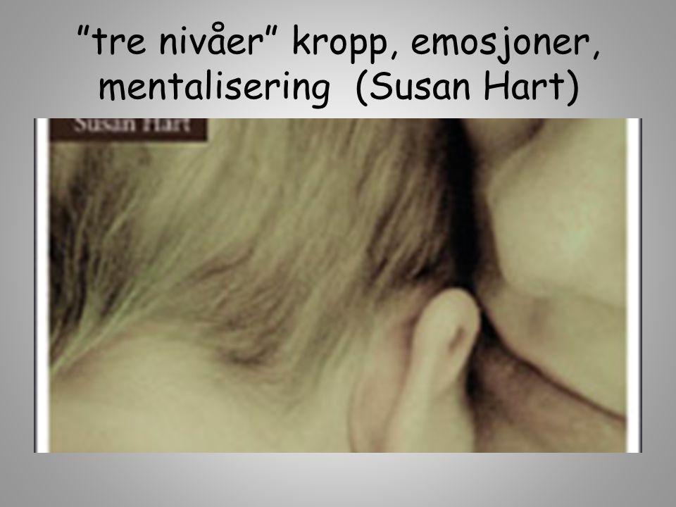 tre nivåer kropp, emosjoner, mentalisering (Susan Hart)