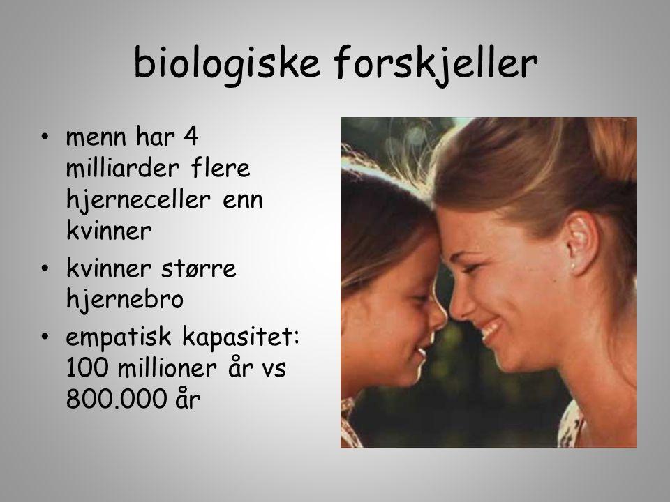 biologiske forskjeller