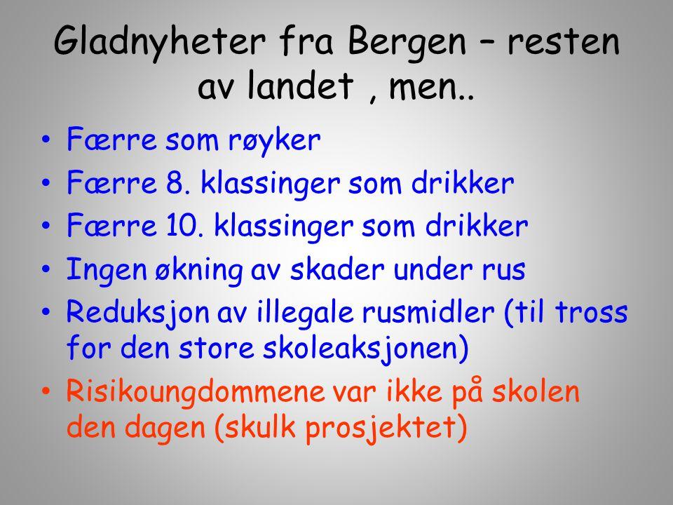 Gladnyheter fra Bergen – resten av landet , men..