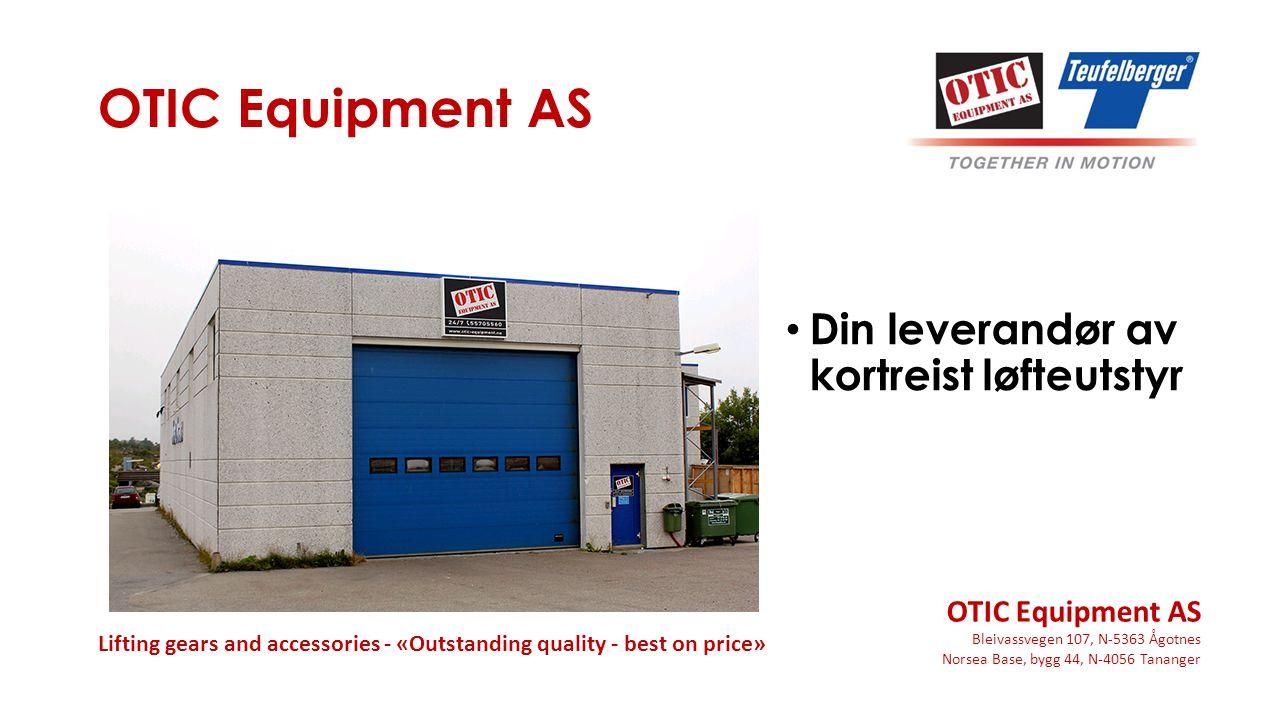 OTIC Equipment AS Din leverandør av kortreist løfteutstyr