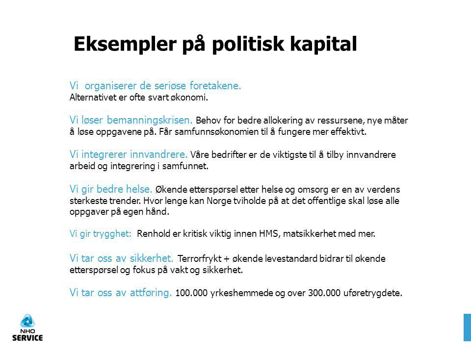Eksempler på politisk kapital