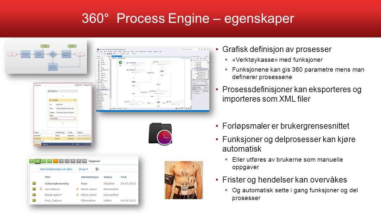 360° Process Engine – egenskaper