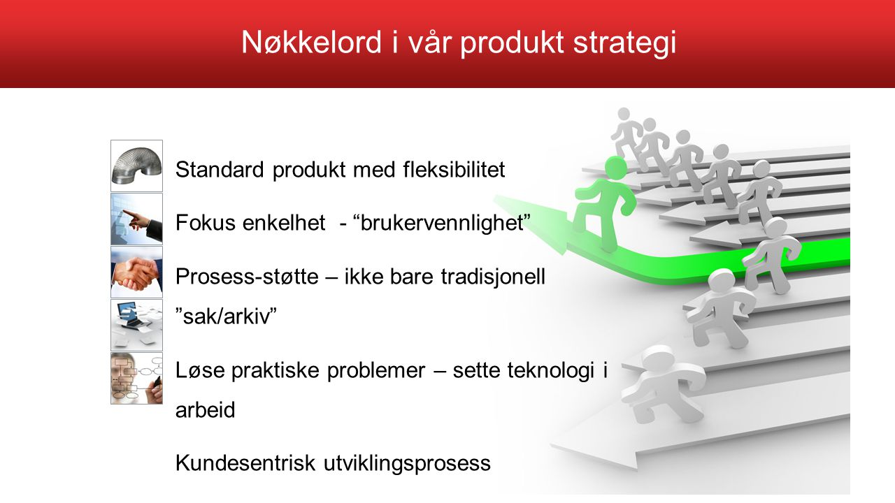 Nøkkelord i vår produkt strategi