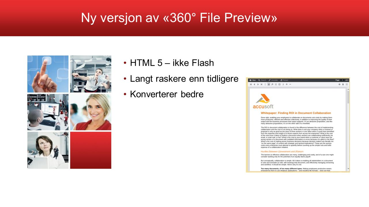 Ny versjon av «360° File Preview»