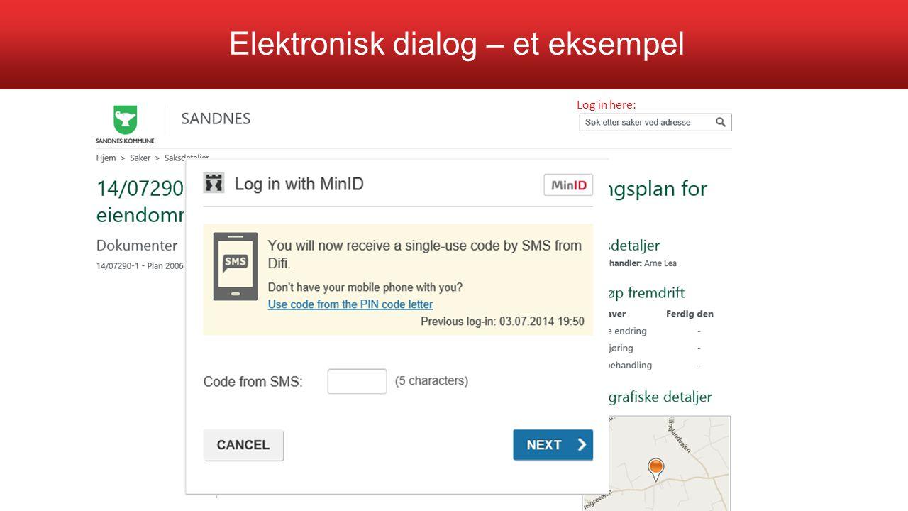 Elektronisk dialog – et eksempel