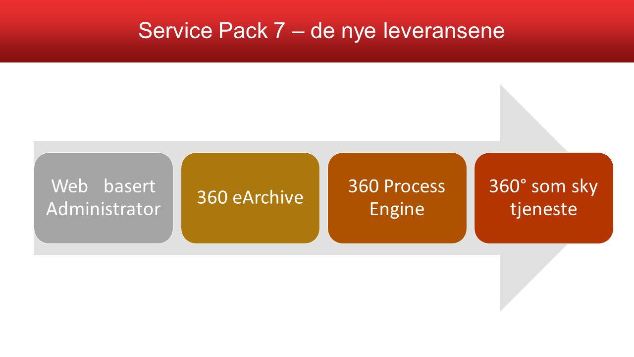 Service Pack 7 – de nye leveransene
