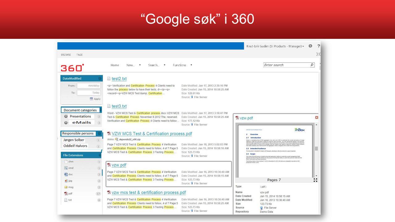 Google søk i 360