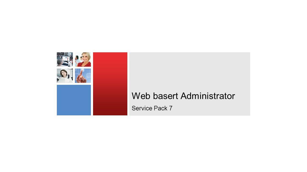 Web basert Administrator