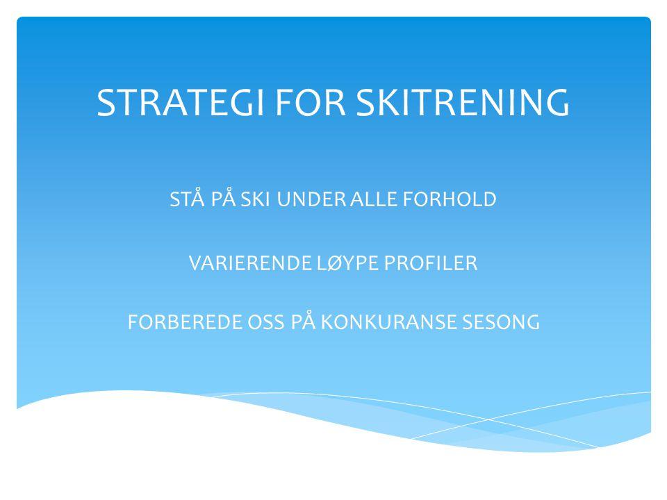 STRATEGI FOR SKITRENING