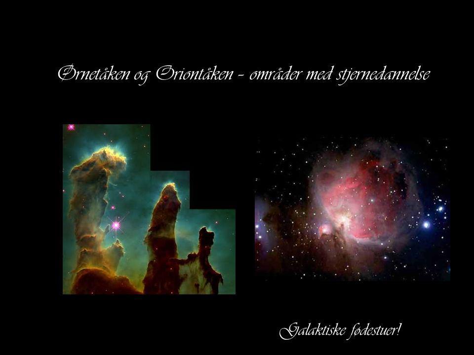 Ørnetåken og Oriontåken – områder med stjernedannelse