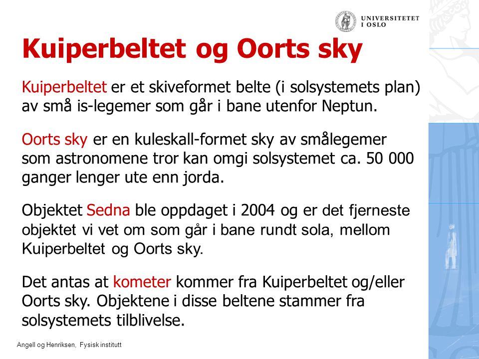 Kuiperbeltet og Oorts sky