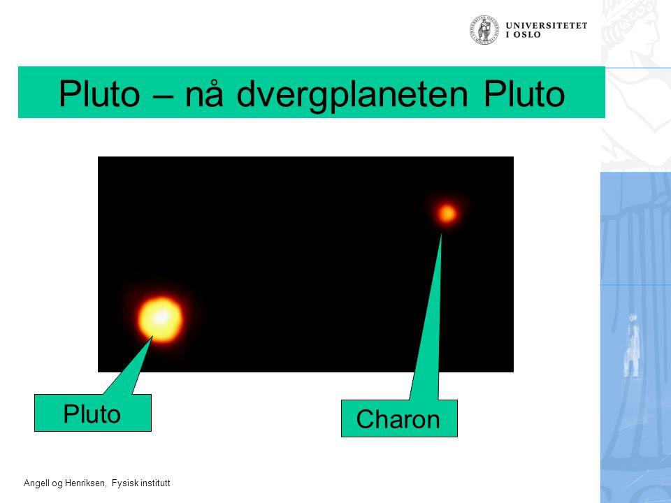 Pluto – nå dvergplaneten Pluto