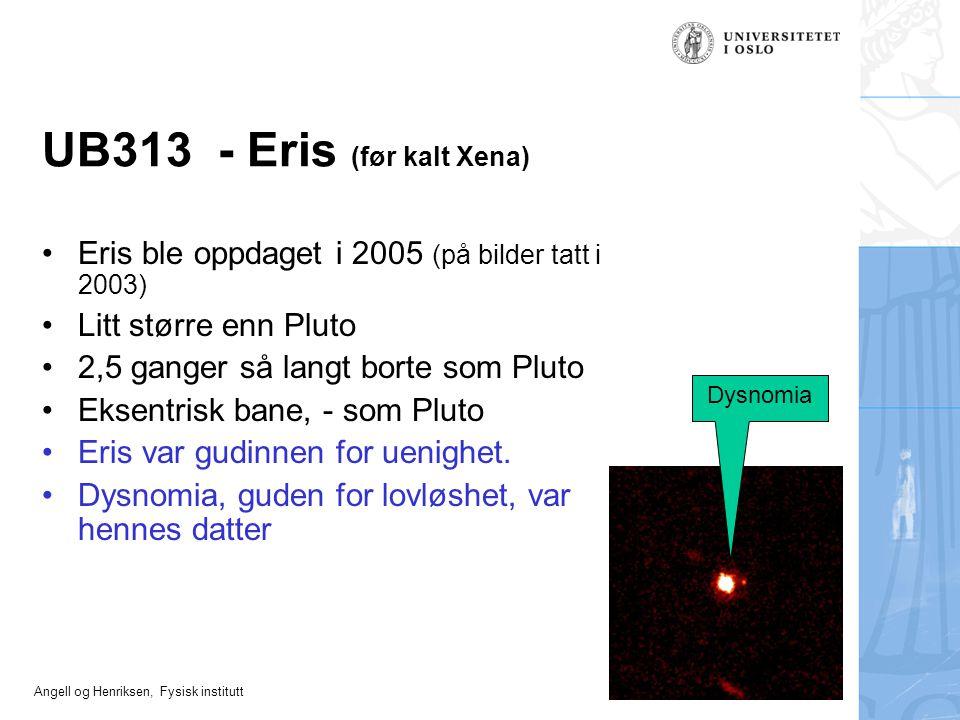 UB313 - Eris (før kalt Xena)