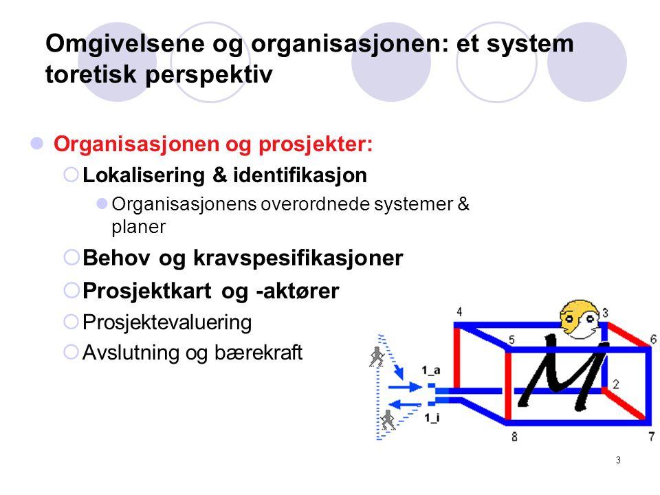 Omgivelsene og organisasjonen: et system toretisk perspektiv