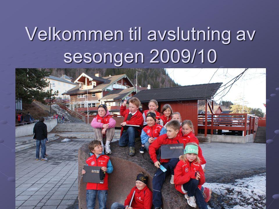 Velkommen til avslutning av sesongen 2009/10