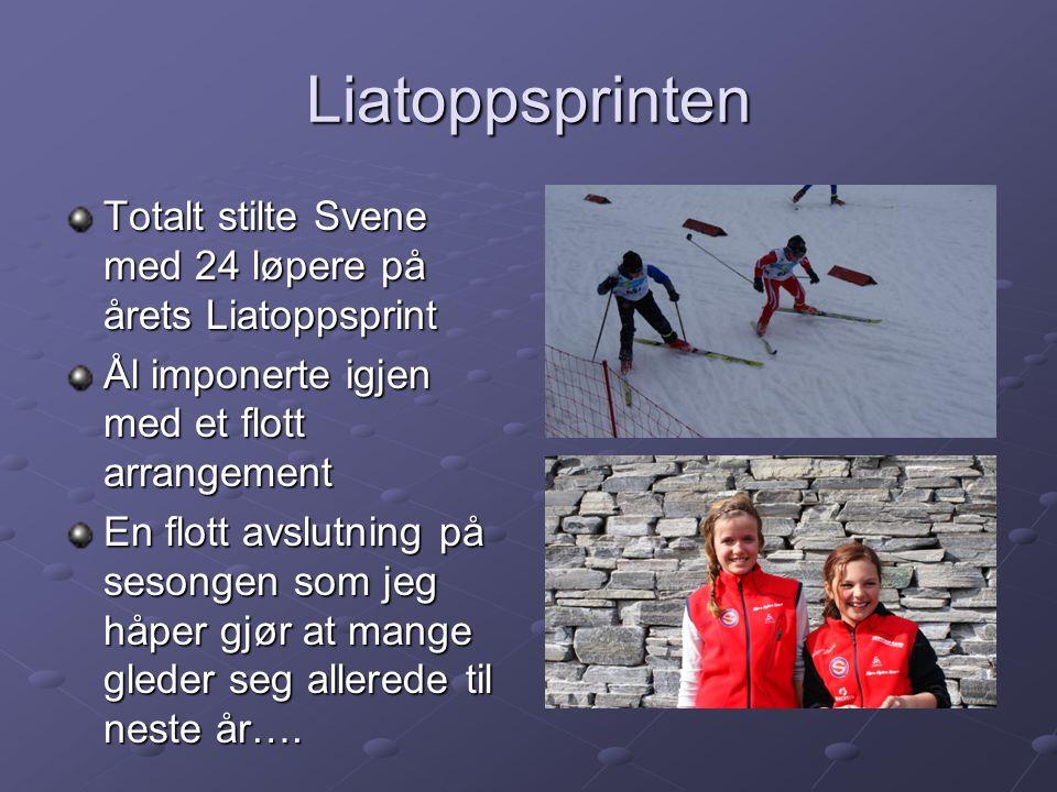 Liatoppsprinten Totalt stilte Svene med 24 løpere på årets Liatoppsprint. Ål imponerte igjen med et flott arrangement.