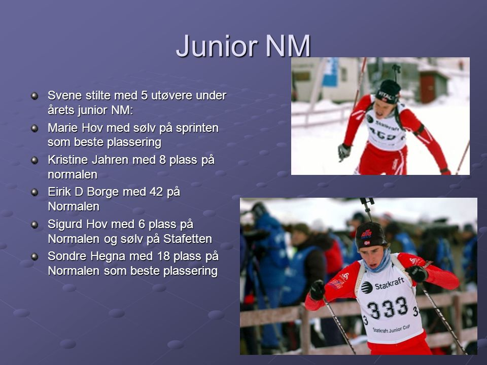 Junior NM Svene stilte med 5 utøvere under årets junior NM: