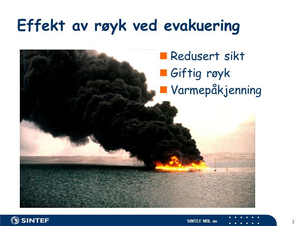 Effekt av røyk ved evakuering