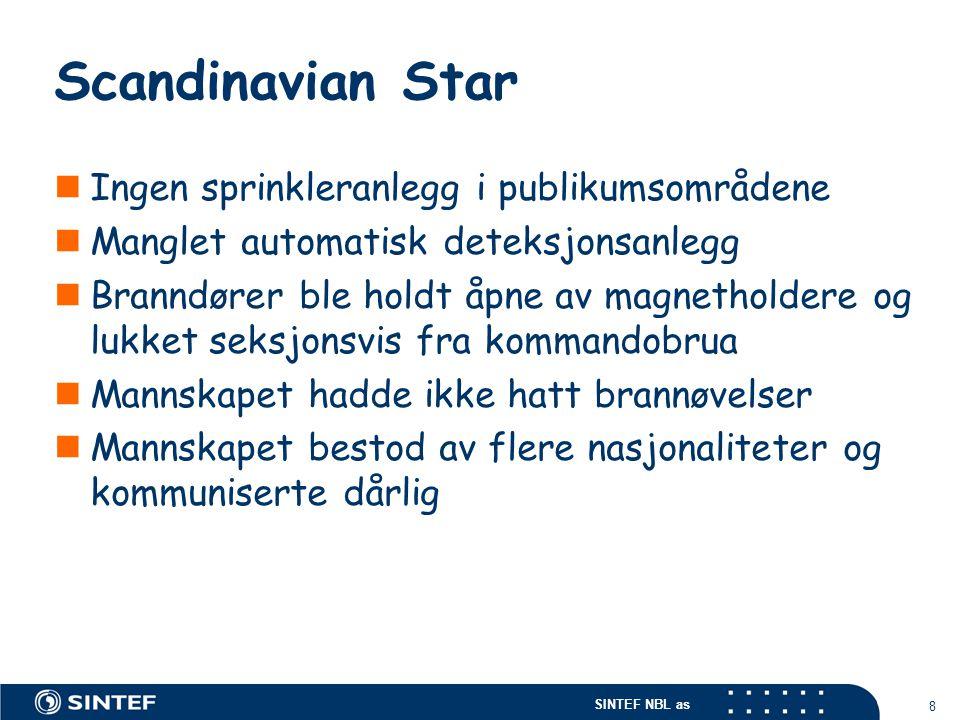 Scandinavian Star Ingen sprinkleranlegg i publikumsområdene