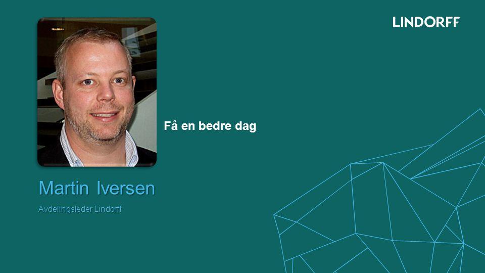 Martin Iversen Avdelingsleder Lindorff
