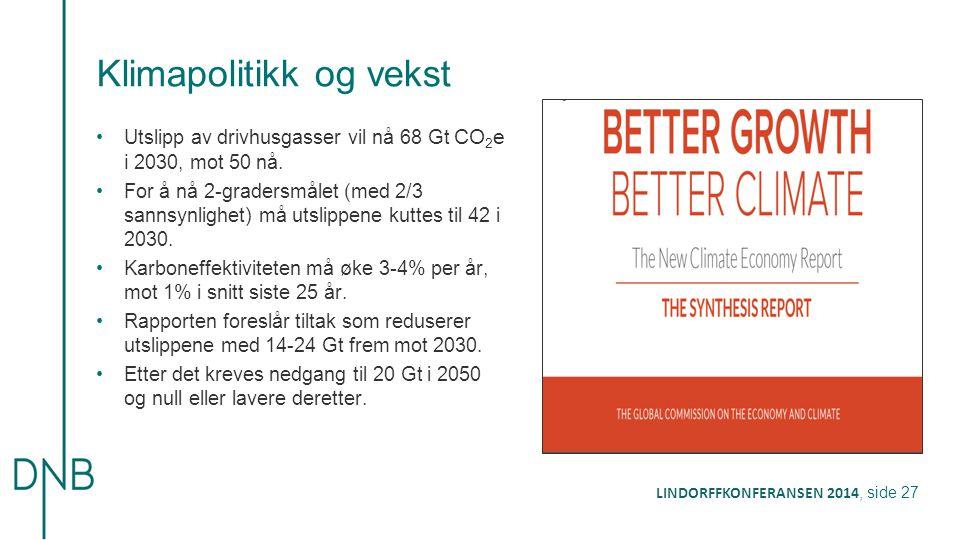 Klimapolitikk og vekst
