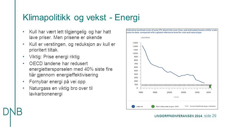 Klimapolitikk og vekst - Energi