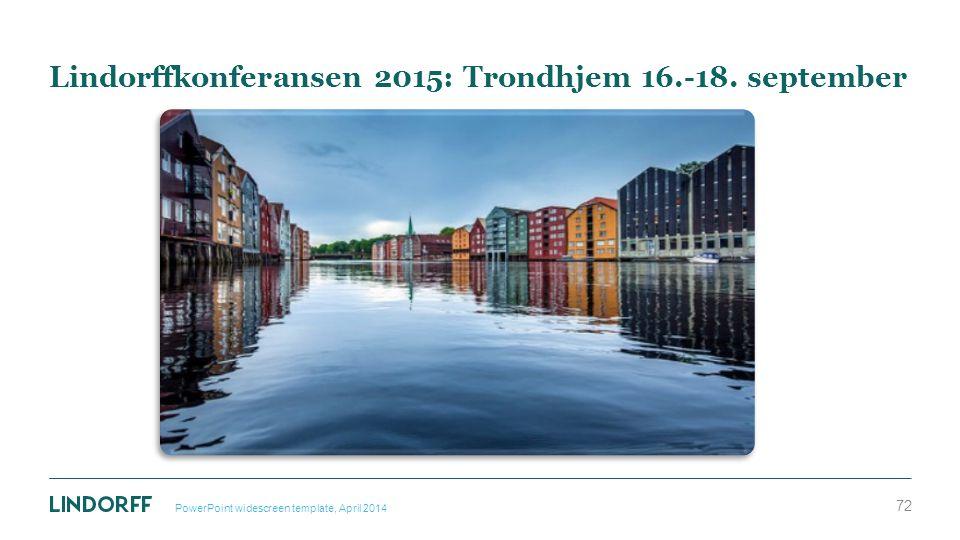 Lindorffkonferansen 2015: Trondhjem 16.-18. september