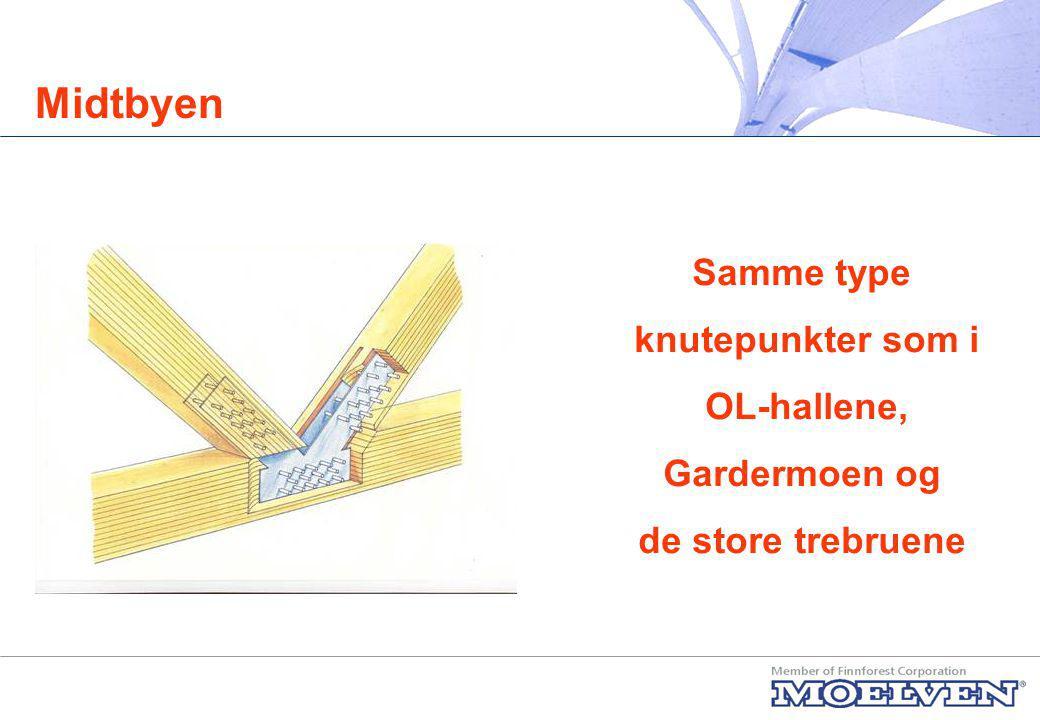 Midtbyen Samme type knutepunkter som i OL-hallene, Gardermoen og
